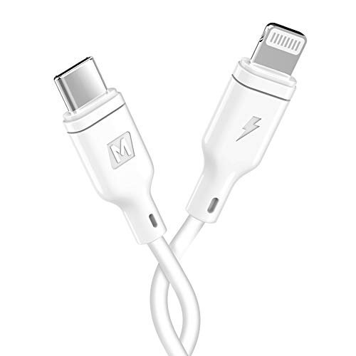 MOMAX USB C to Lightning Cable MFI Certified 1ft Charging Syncing Cord Compatible with iPhone 11 Pro MAX XS XS MAX XR X 8 8 Plus 7 7 Plus MacBook (30cm White)